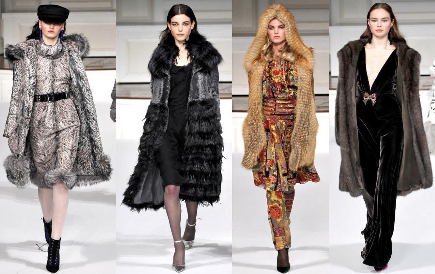 модные шубы 2012