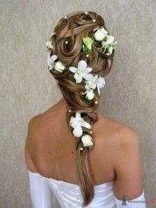 цветы и свадебные прически