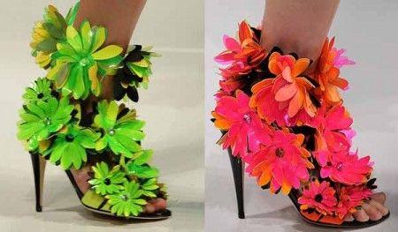 обувь лето 2012 с цветочным принтом