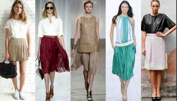 летние юбки модные в 2012