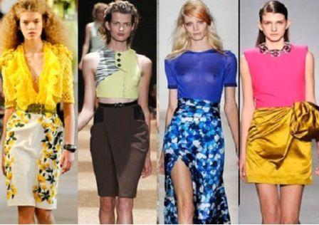 цветной принт и летние юбки