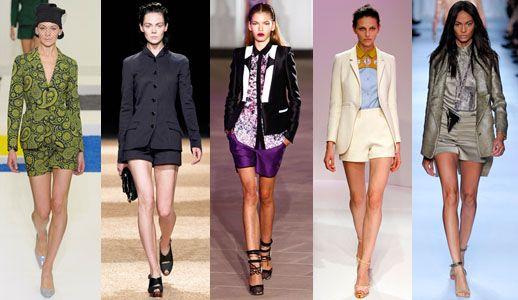 самые модные шорты лета 2012