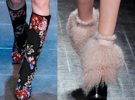 модные сапоги осень от дизайнеров