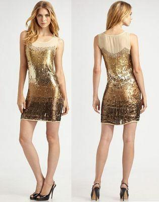 платья на новый год 2013 в золотых тонах