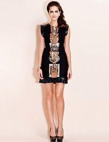 Черные платья с оригинальными вставками