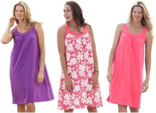Простые летние платья для полных фото