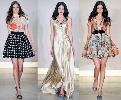летние платья с модного показа