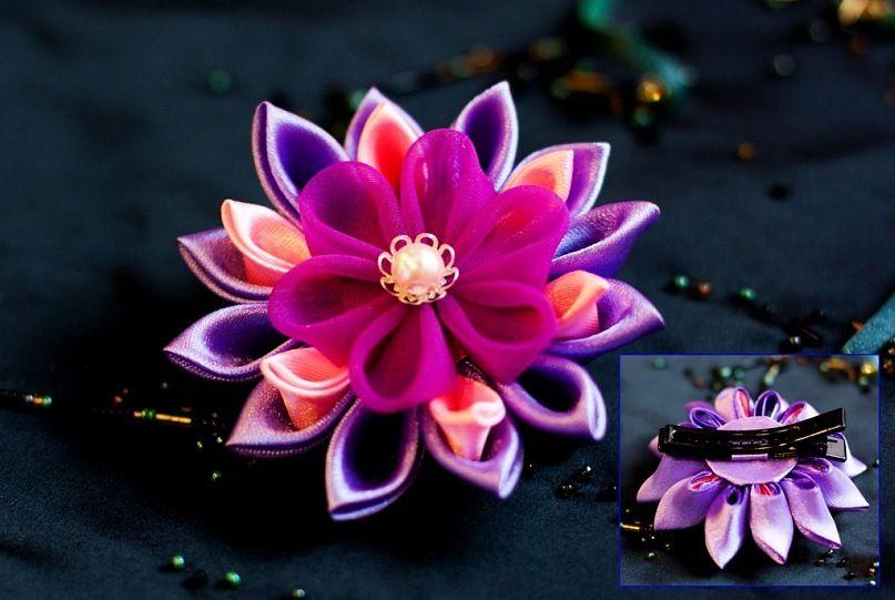 украшение для волос заколка-цветок