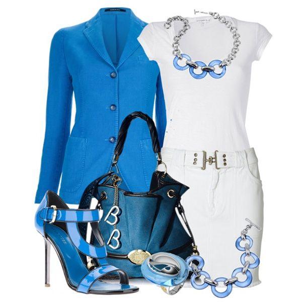 белое и голубое совершенство в одежде