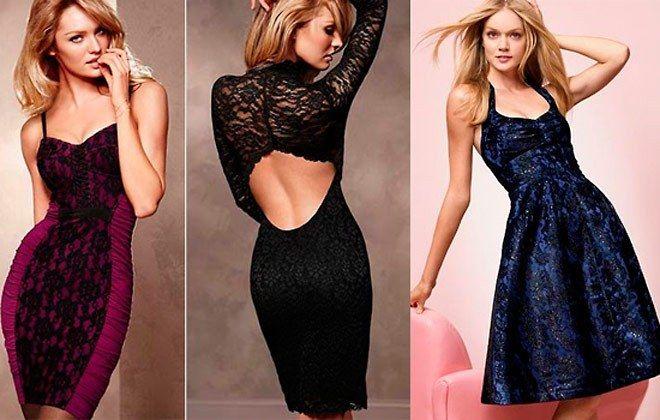 открытые платья на новый год