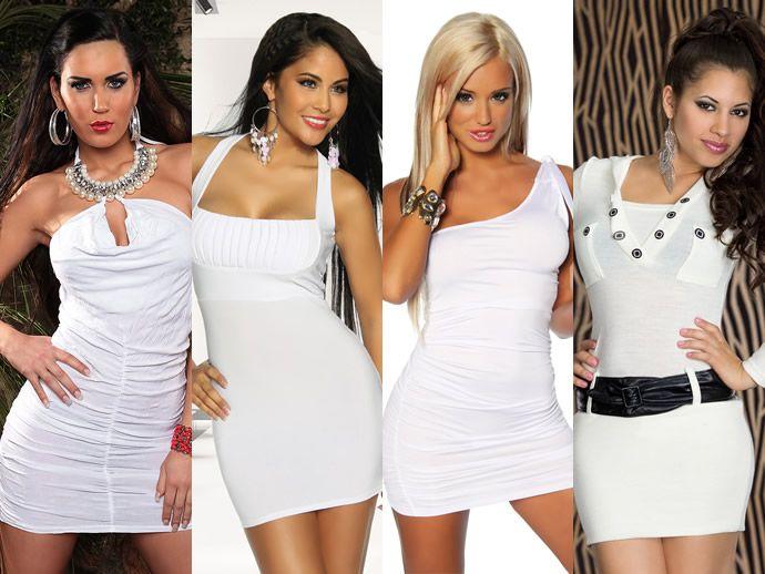 с чем носить белое платье мода нового сезона
