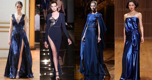 синие вечерние платья следуй тенденциям моды
