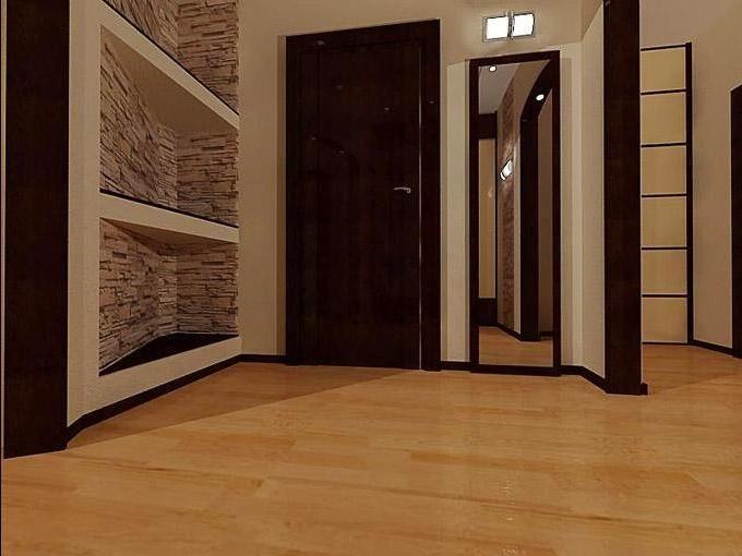 большой коридор и дизайн его в квартире