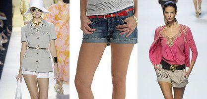 модные шорты с отворотами