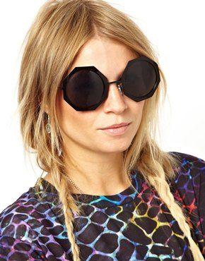 шестиугольные модные очки