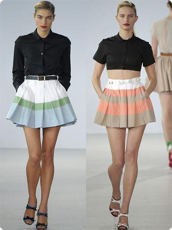 шорты-юбка модно и стильно