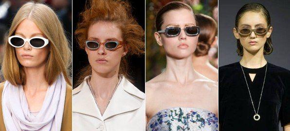 солнцезащитные очки с узкими стеклами