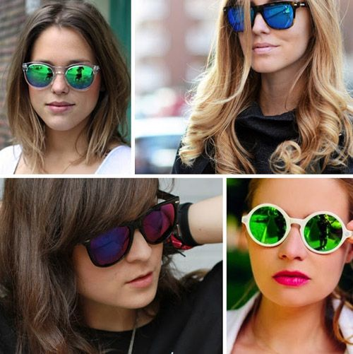 зеркальные очки от солнца