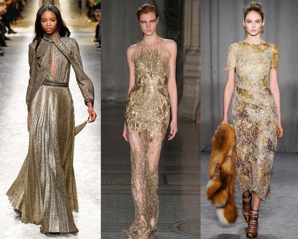 платья в золотых тонах