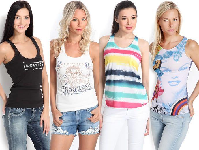 креативные майки в сочетании с джинсами