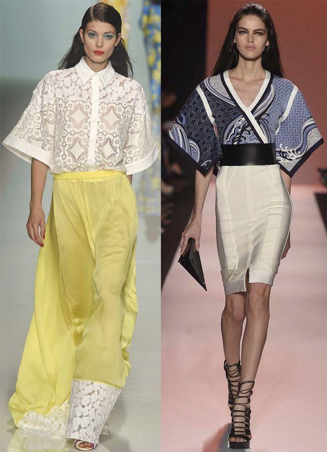 Мода блузок в стиле кимано
