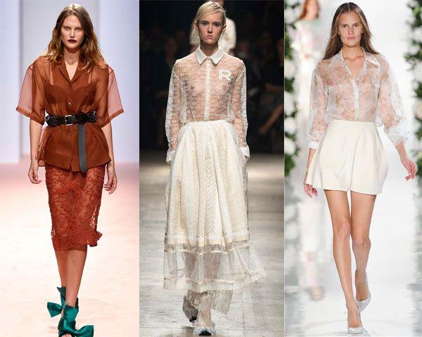модные блузки из прозрачной ткани