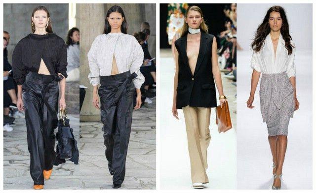 модные блузки с V-образным вырезом