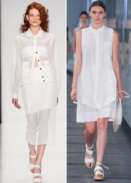 образ с использование прозрачных блузок
