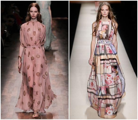классика в вечерних модных платьях