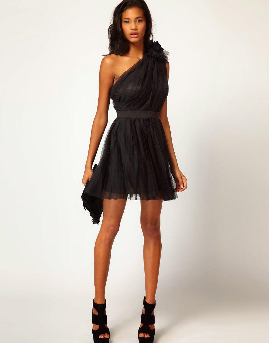 легкое вечернее платье на одно плечо