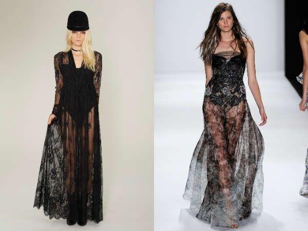 модные платья nude