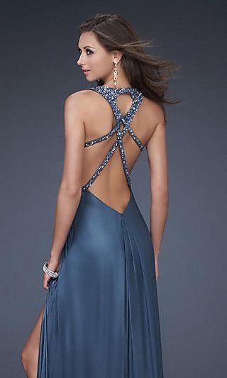 оригинальное платье с вырезом на спине