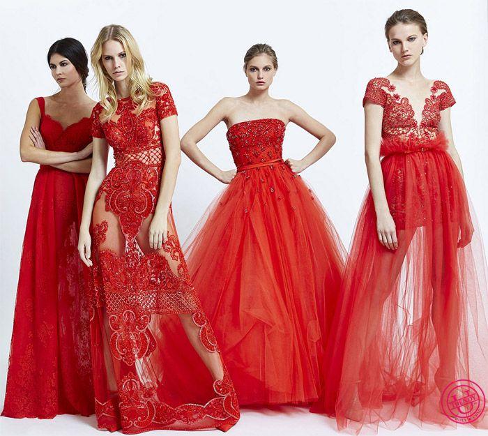 шикарные красные платья на вечер