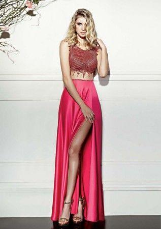 вечернее платье с разрезом на бедре