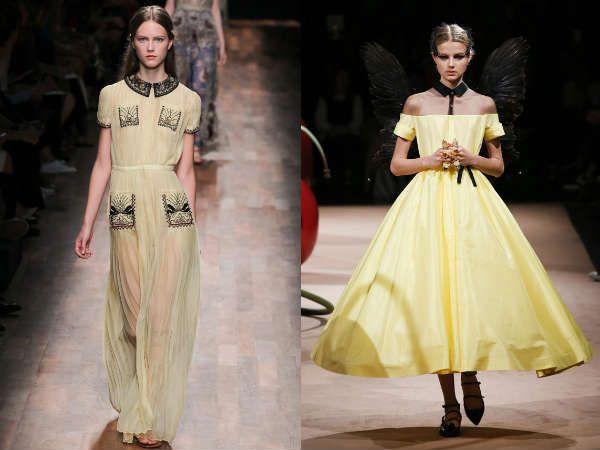 вечерние платья от модных домов