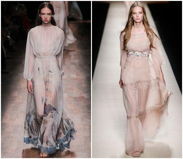 воздушные классические платья