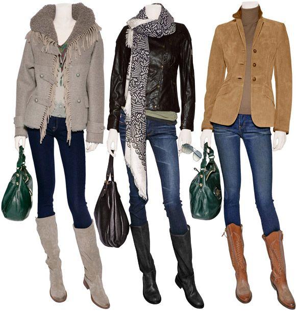 Джинсы в модном образе сезона