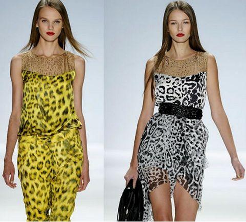 Леопардовый принт в модных сарафанах