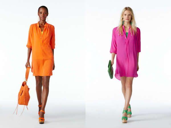 Модные насыщенные цветовой гаммой туники