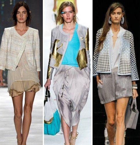 Модный показ и пиджаки нараспашку