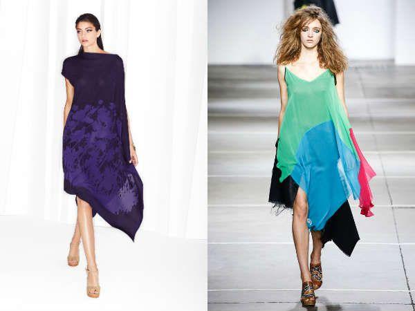 Нестандартный крой не помеха модной состовляющей  туники