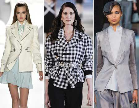 Приталеные пиджаки и жакеты мода 2015