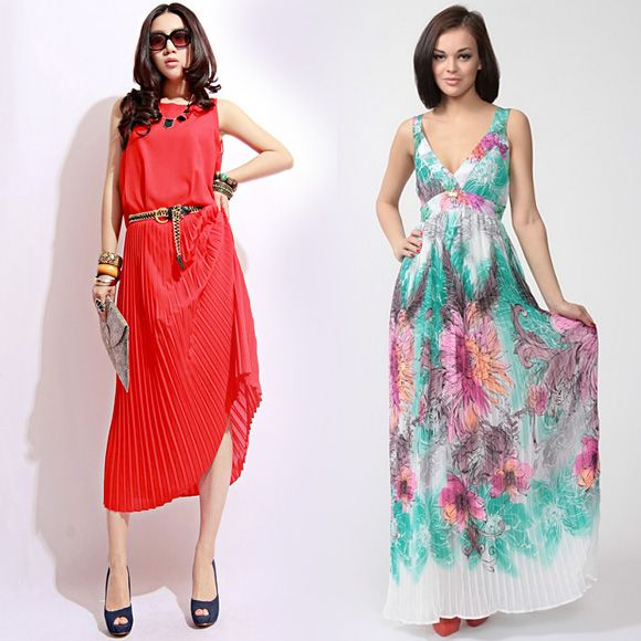 Яркие модные сарафаны на лето
