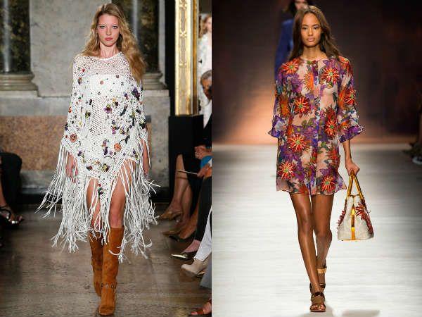 модные туники в сочетании с цветочным принтом