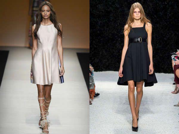 А-силует в модных офисных платьях