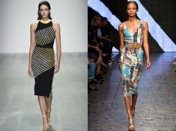 Абстрактные узоры и модные офисные платья