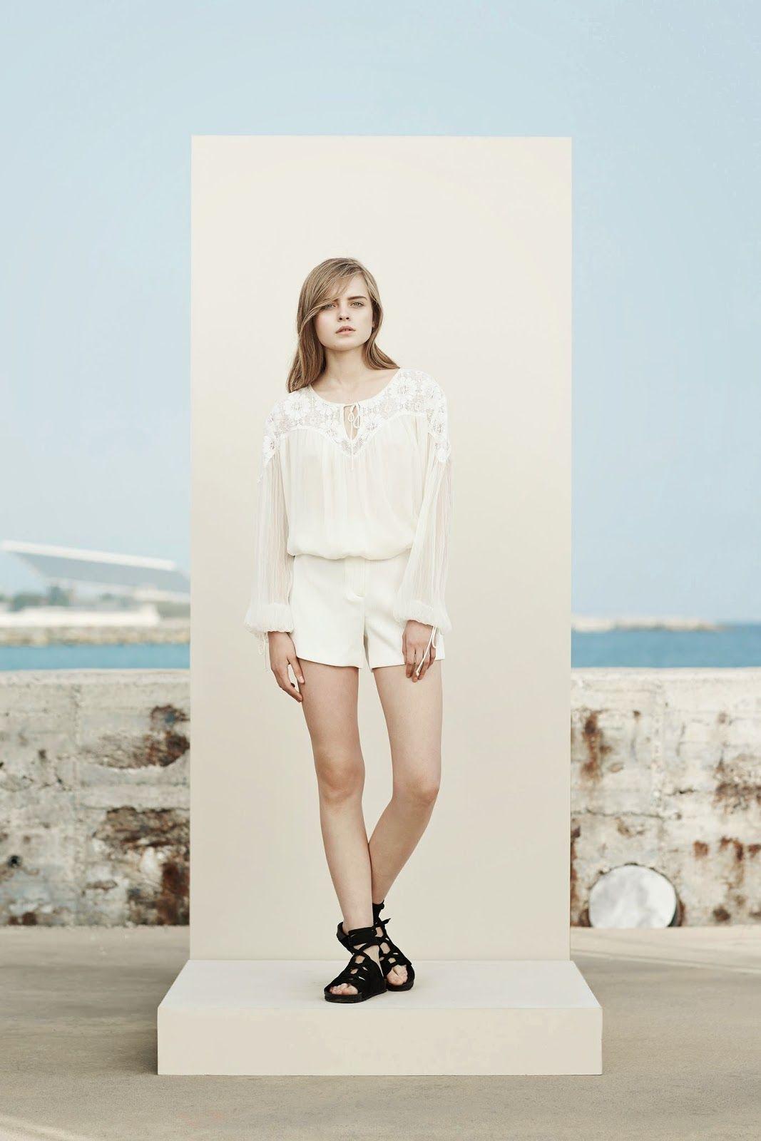 Белый цвет в моде Манго