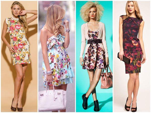 Цветочный принт летние платья