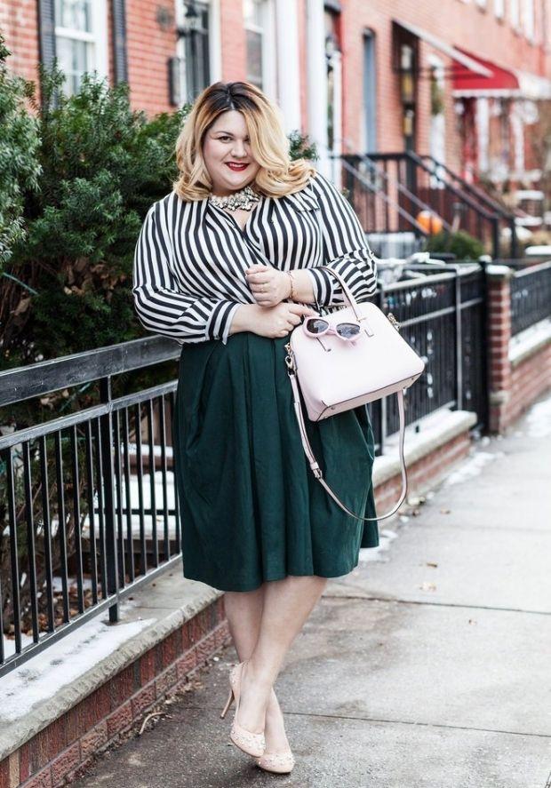 Мода для полных с удлиненной юбкой