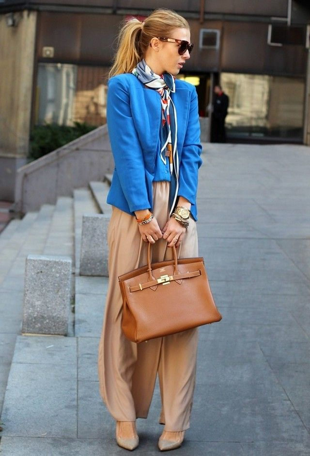 Модные брюки палаццо для девушки
